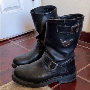 Men's Harley Davidson Black Boots Size 12